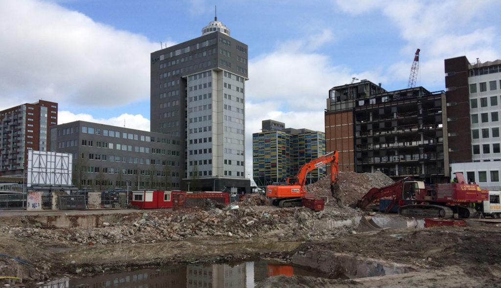 Bouwterrein stationsgebied Leiden wordt tijdelijk pop-upbuurt