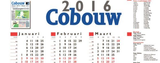 Cobouw Kalender 2016 digitaal verkrijgbaar