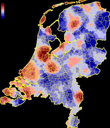 Utiliteitsbouwprojecten per regio