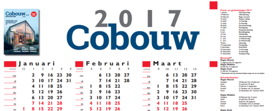 Download de Cobouw Jaarkalender 2017