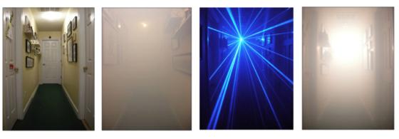 Laserlicht wijst de weg bij brand