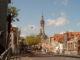Delft straatzicht met nieuwe kerk op achtergrond vanaf koepoortbrug foto4 2009 05 22 11.08 80x60