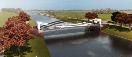 Groningse brug op weg naar Dorkwerd