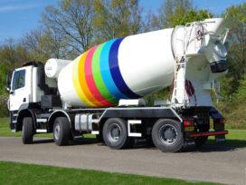 DAF FAD Wide Spread betonmixer voor Monsuur