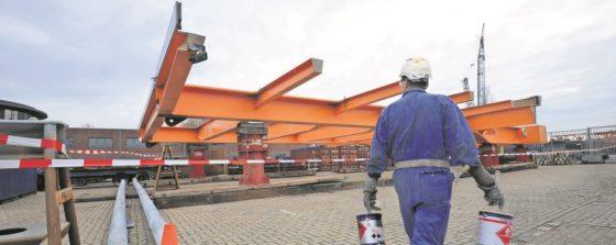 Schade aan staalconstructie van klep Julianabrug Alphen valt reuze mee