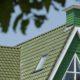 Knb groene keramische dakpan 2 80x80