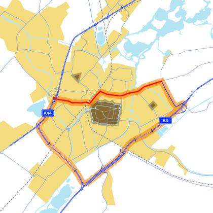 Leidse Ringweg Noord plattegrond