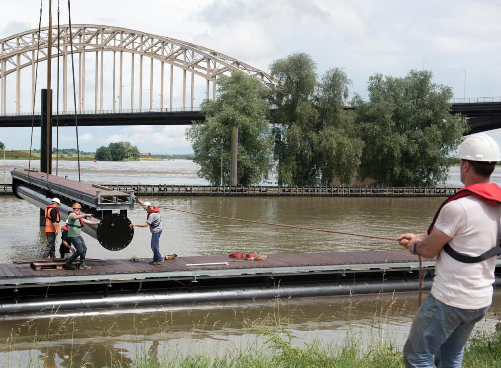 Inhijsen vingersteiger in Nijmegen
