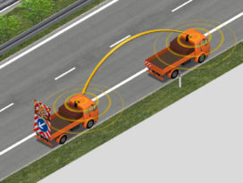 Zelfrijdende botsabsorber/pijlwagen verhoogt veiligheid wegwerkers