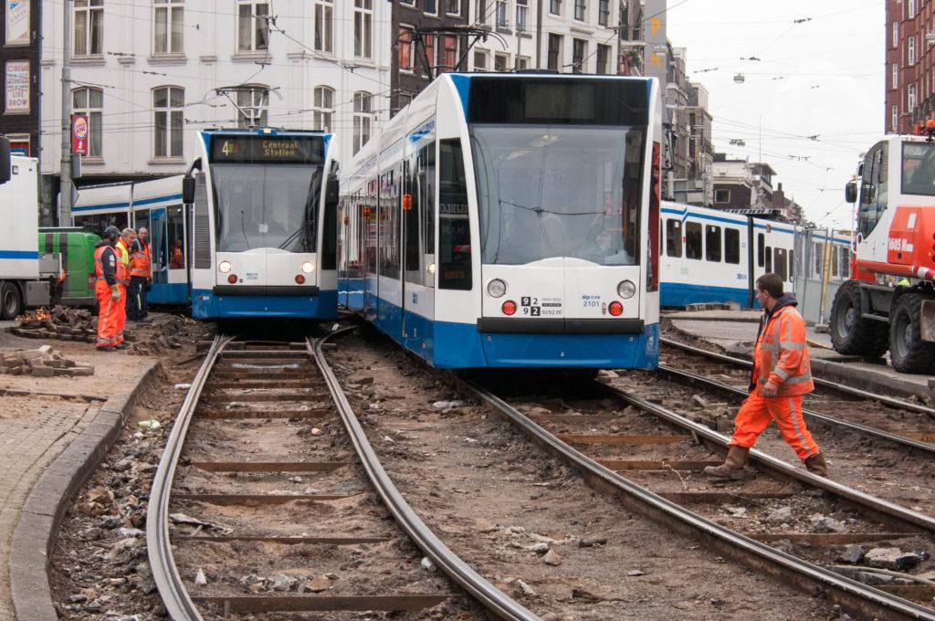 Vervangen tramrails