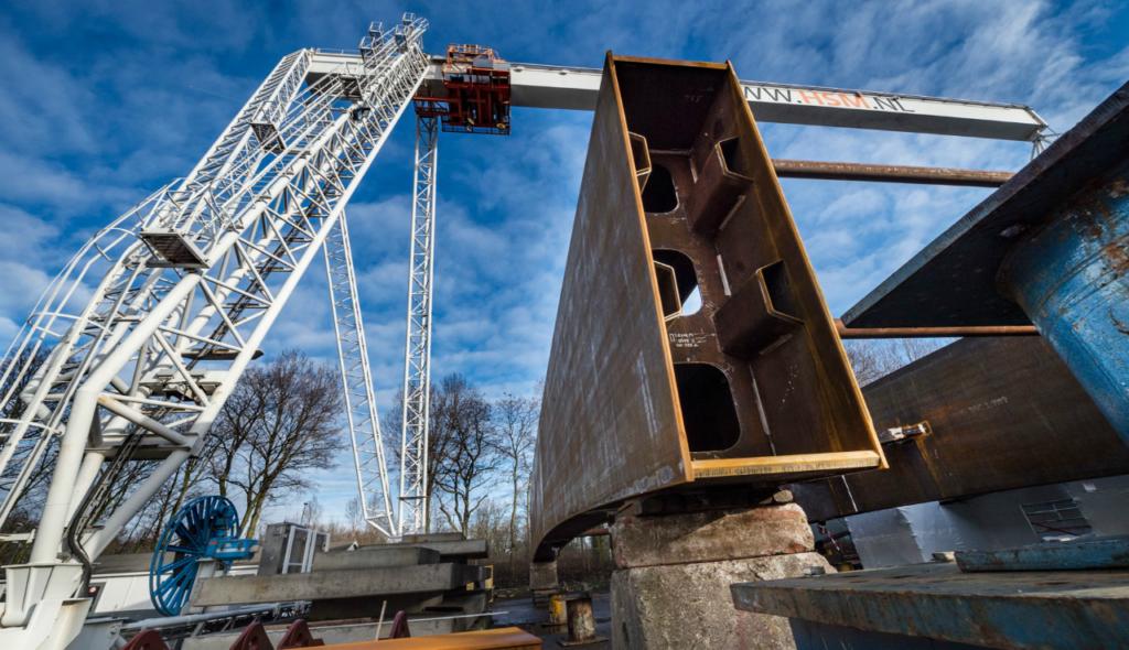 Spoorbrug Amsterdam-Rijnkanaal in de maak
