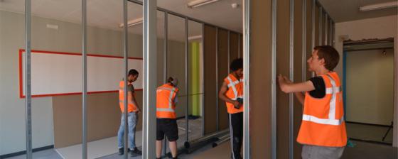 Studenten bouwen aan eigen woning