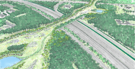 Bouw natuurbrug A1 begint met bomenkap