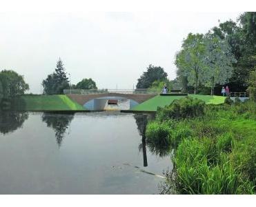 Kalkcement stabiliseert slappe grond rond brug
