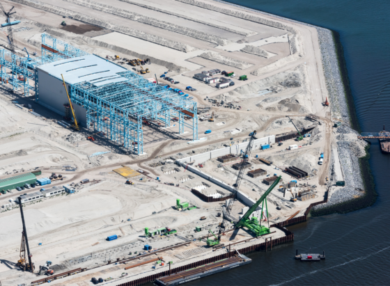 XL: Betonwerk op Maasvlakte 2