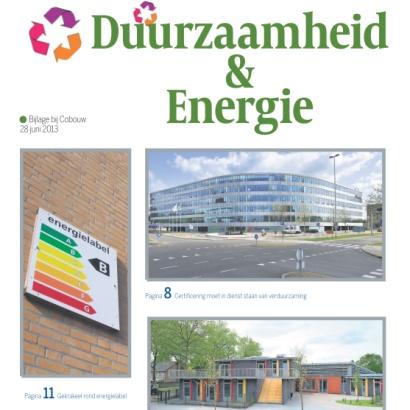 Vandaag bij Cobouw: bijlage Duurzaamheid & Energie