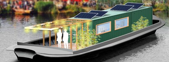 Gerecycled BAM-asfalt ingezet als ballast voor biogasboot