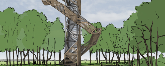 Uitkijktoren voor natuurgebied De Onlanden