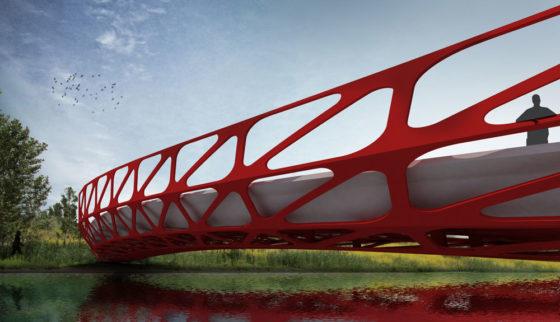 Opvallende brug van Delftse student wordt echt gebouwd