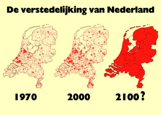 Verstedelijking in Nederland zet door
