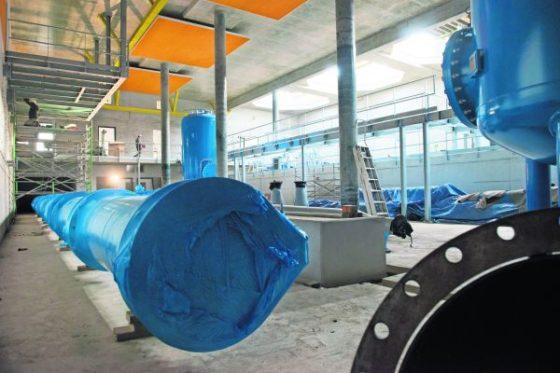Productiehal voor schoon drinkwater