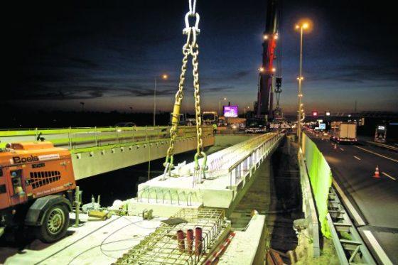 Zeven liggers geven vorm aan nieuw spoorviaduct Zielhorst