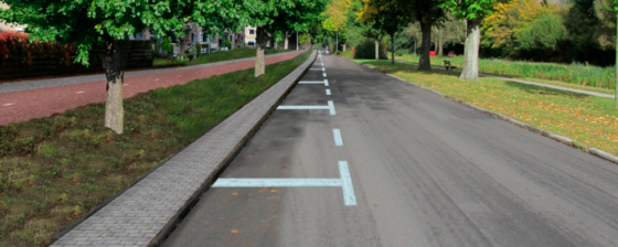 Fietsroute Plus tussen Haren en Groningen