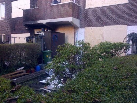 Gasleiding geraakt: ravage in Den Haag
