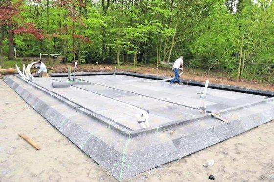 Constructievloer van eps zonder koudebrug