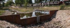 Keerwanden met cortenstaal in Groesbeek