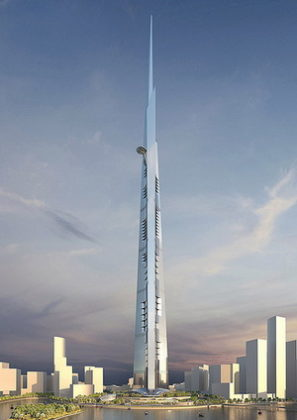 Solide palen voor Kingdom Tower