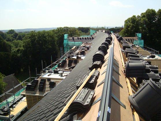 Lezersfoto: diepblauw dakwerk in Maastricht
