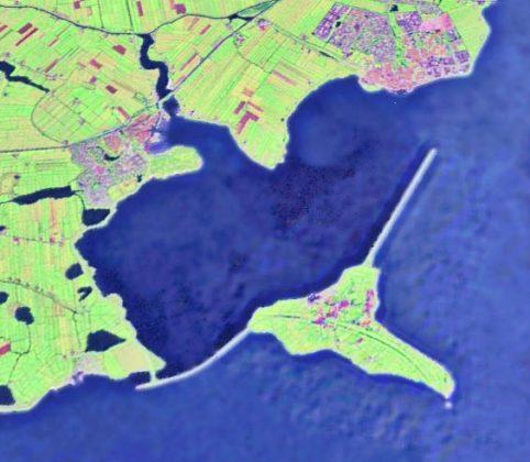 Dijk nieuwe lijst om eiland Marken