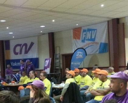 Vakbonden voeren weer actie in de metaalsector