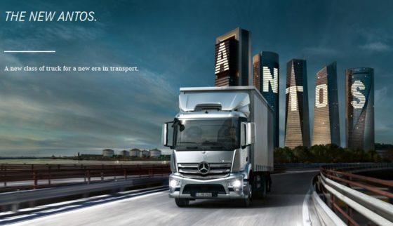 Antos nieuwe lijn zware distributietrucks van Mercedes-Benz