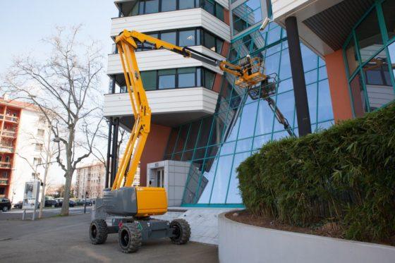 Haulotte houdt demo tour met nieuwe range 16 meter knikgiek hoogwerkers