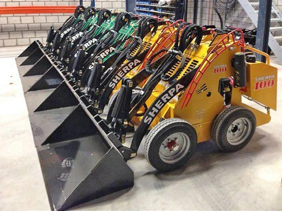 Hanenberg brengt zestal elektrische miniloaders naar Verenigde Staten