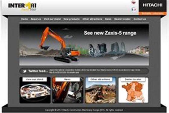 Hitachi lanceert speciale Intermat-website