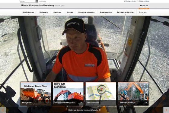 Nieuwe Nederlandse website Hiatchi grondverzetmaterieel