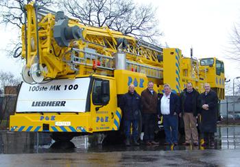 Honderdste Liebherr MK 110 afgeleverd