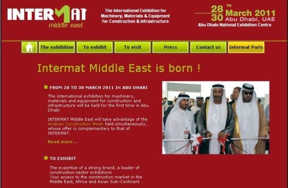 Intermat maakt uitstap naar Midden-Oosten