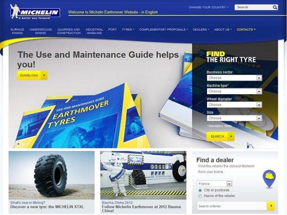 Michelin lanceert website voor professionele grondverzetters
