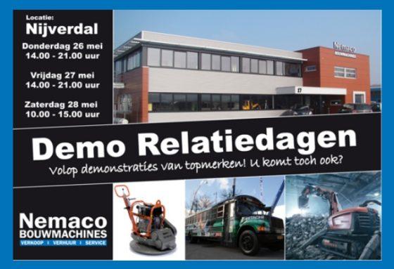 Eind mei: Demo Relatiedagen bij Nemaco