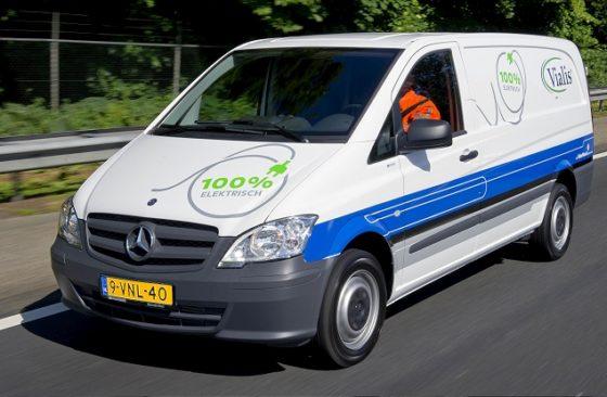 Vialis rijdt met eerste Vito E-Cell bestelwagen