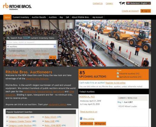Meer informatie op nieuwe website Ritchie Bros