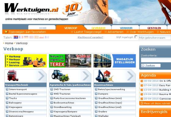 Feest bij website werktuigen.nl