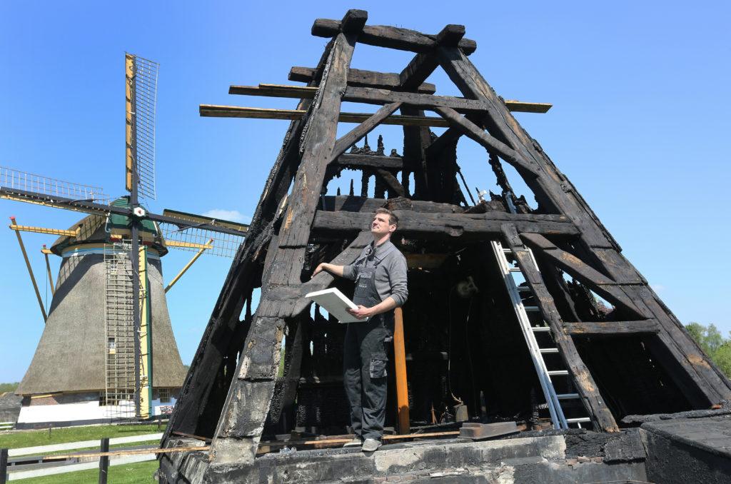 Herstelplan voor afgebrande molen