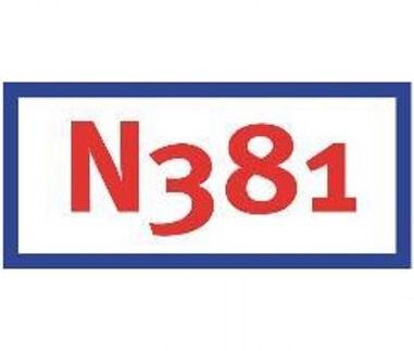 N381 in Friesland geheel dubbelbaans