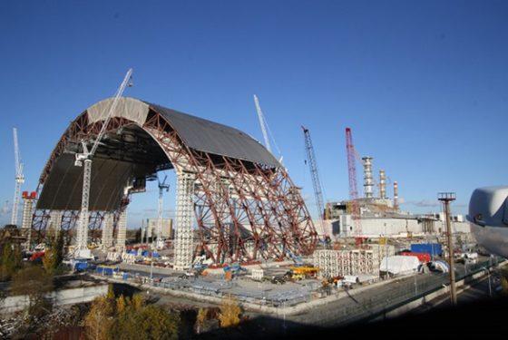 Kalzip dak voor reactor Tsjernobyl