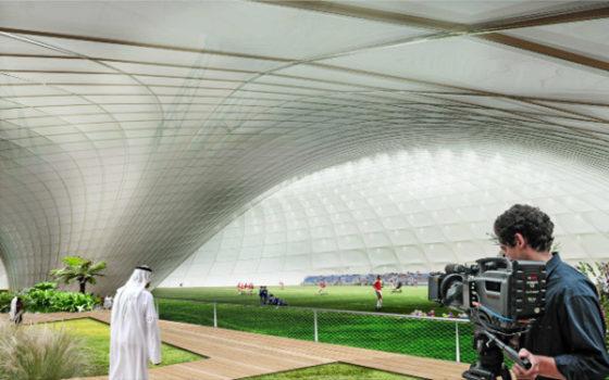 Koele koepel dankzij hitte in Qatar